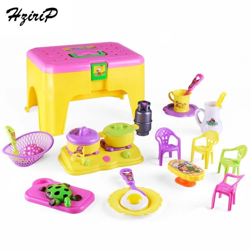hzirip fai da te in plastica classico giocattoli di cucina simulazione cook stoviglie fingere gioco di