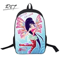 Lovely Cute 3D Cartoon Printing Schoolbags Beautiful Fashion Mochilas Winx Club Kids Backpack for Girls Children Book Bags