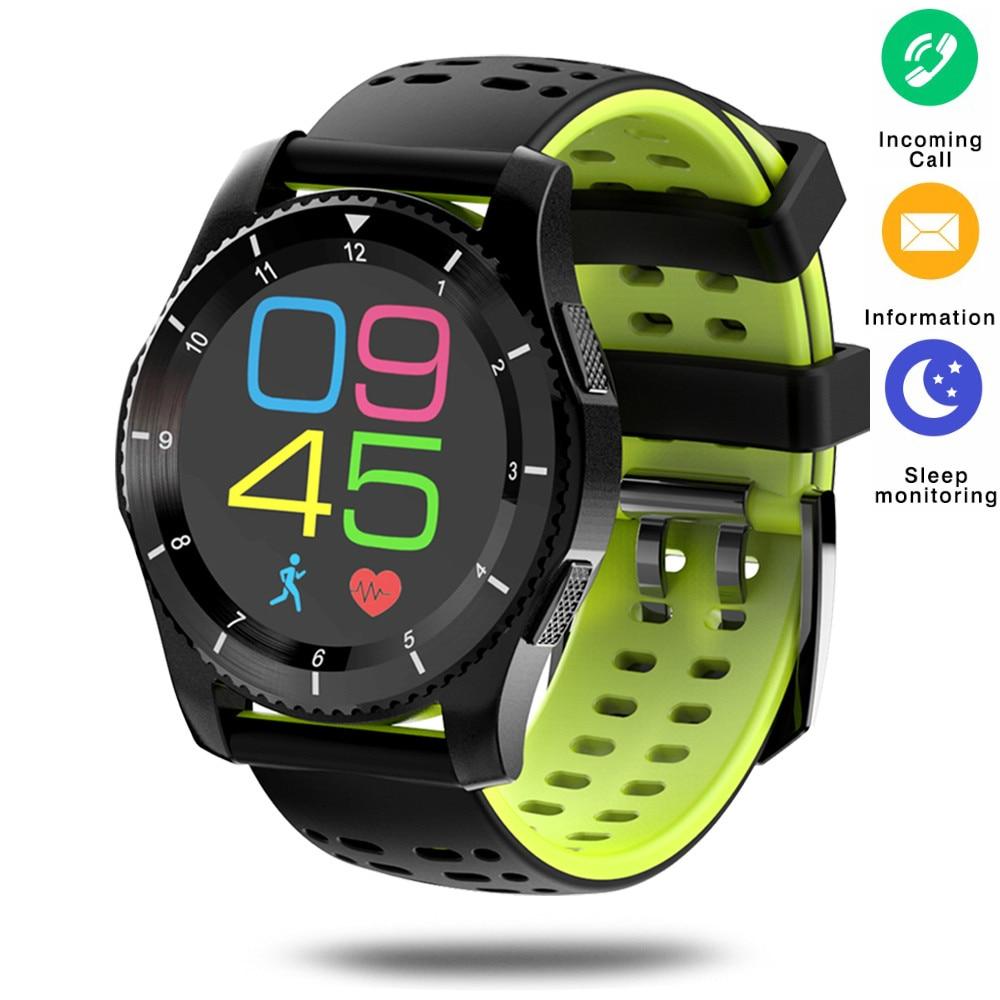 GS8 Smart Watch Waterproof Wristwatch SIM Card Message Remind Blood Pressure Heart Rate Monitor Bluetooth Pedometer Smartwatches