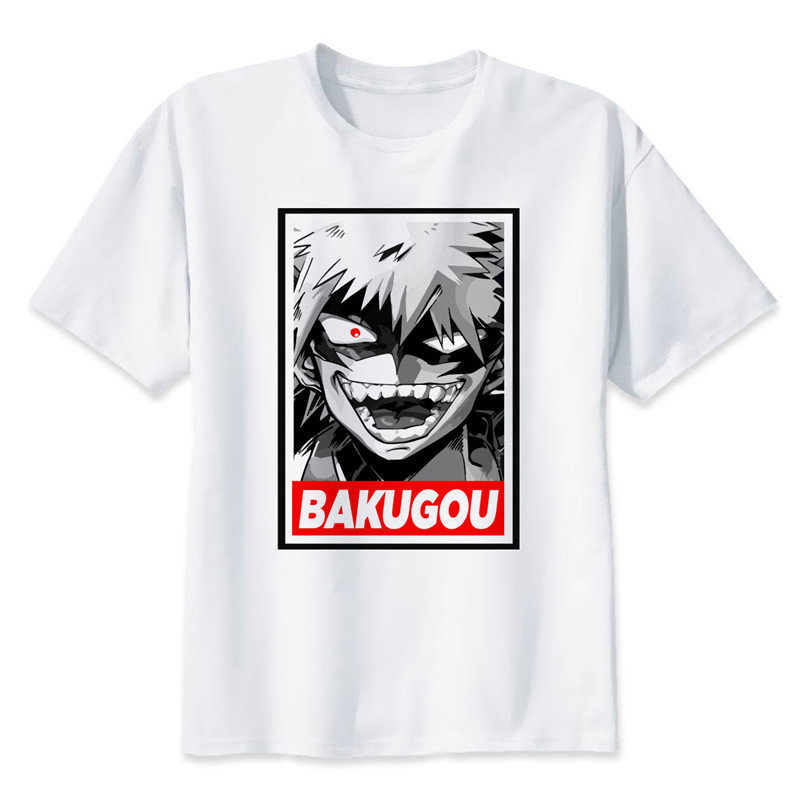 New Arrival My Hero Academia T Shirts Man Short Sleeve Clothing Boku No Hero Academia Funny Cartoon Print T-shirt For Man/woman 3