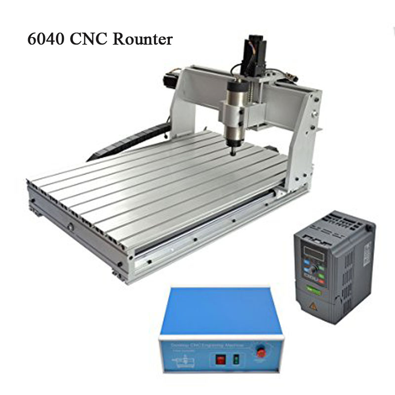 Free Shipping 3 AXIS 6040 Desktop CNC Router 3D Engraving Drilling Milling Machine 220V with 1605 Ball Screw and 1.5KW VFD free tax desktop cnc wood router 3040 engraving drilling and milling machine