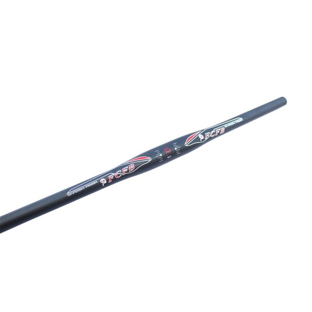 FCFB FW 3K flat handelbar moutain handlebar matt bar+glossy Sticker 31.8*620/660/700MM Extreme sports fcfb  red matt   glossy white red