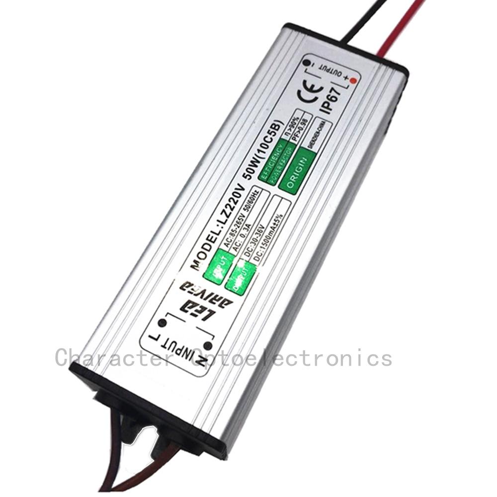 10pcs 50W LED drajver 1500mA 30-36V COB velike snage LED poplava - Različiti rasvjetni pribor - Foto 3