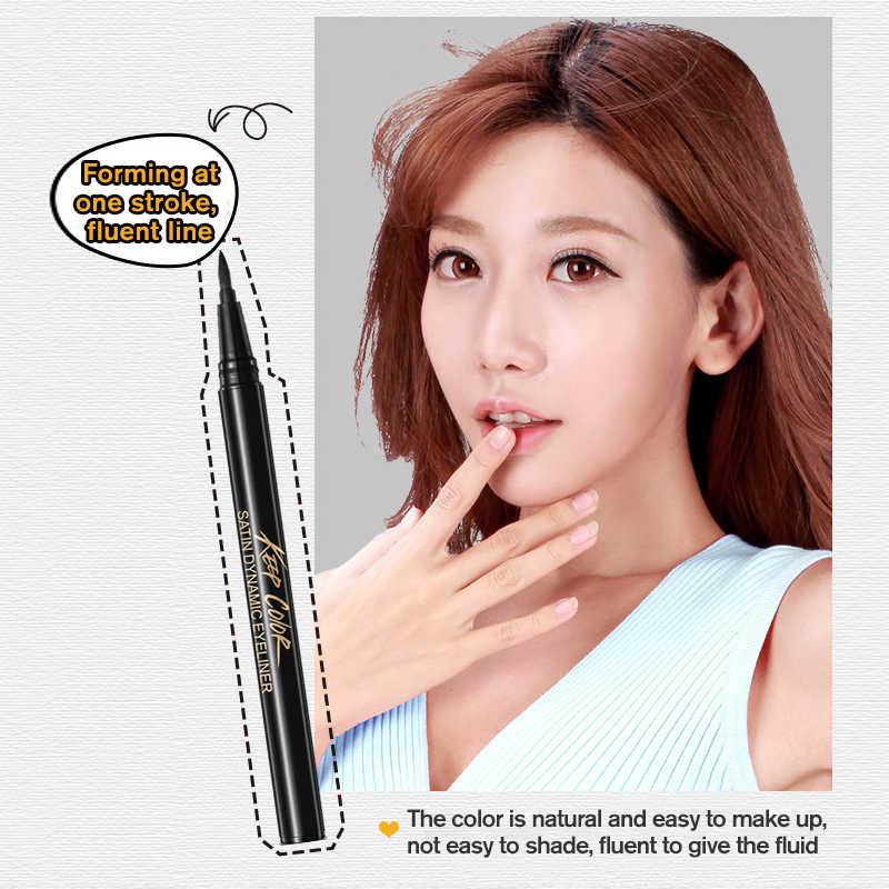 Migliorata Liquido Eyeliner Sticker Eye Liner Gel Nero Matita per Gli Occhi Impermeabile Sudore Resistere Affascinante Eyeliner di Trucco Cosmetico