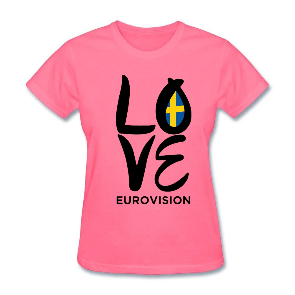 Design t shirt logo online - Logo Design Love Eurovision T Shirt For Women S Original Home Love Sweden Sister Tee Tshirt Online Shopping