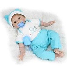 22inch Lifelike Reborn Baby Alive Boy Newborn Dolls Handmade Realistic Toys Women Treats Gifts