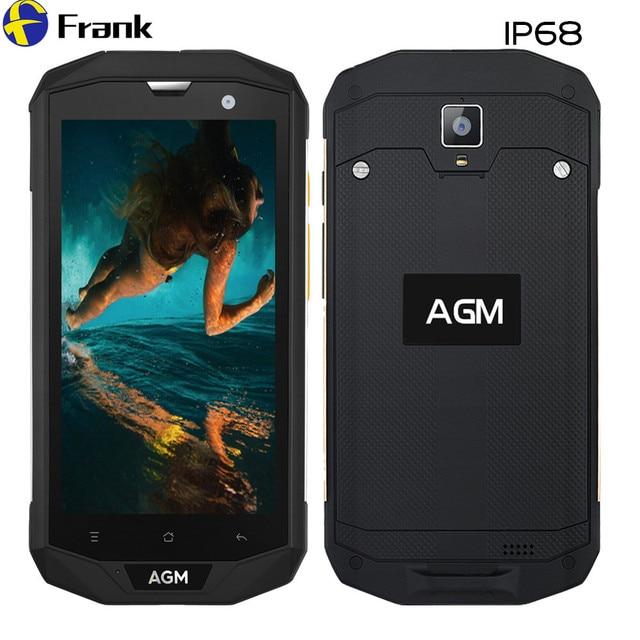 "Original AGM A8 IP67 Waterproof Phone Rugged Shockproof Smartphone IP68 3GB RAM NFC Android 7 Dual SIM 5"" IPS 4G LTE 4050mAh"