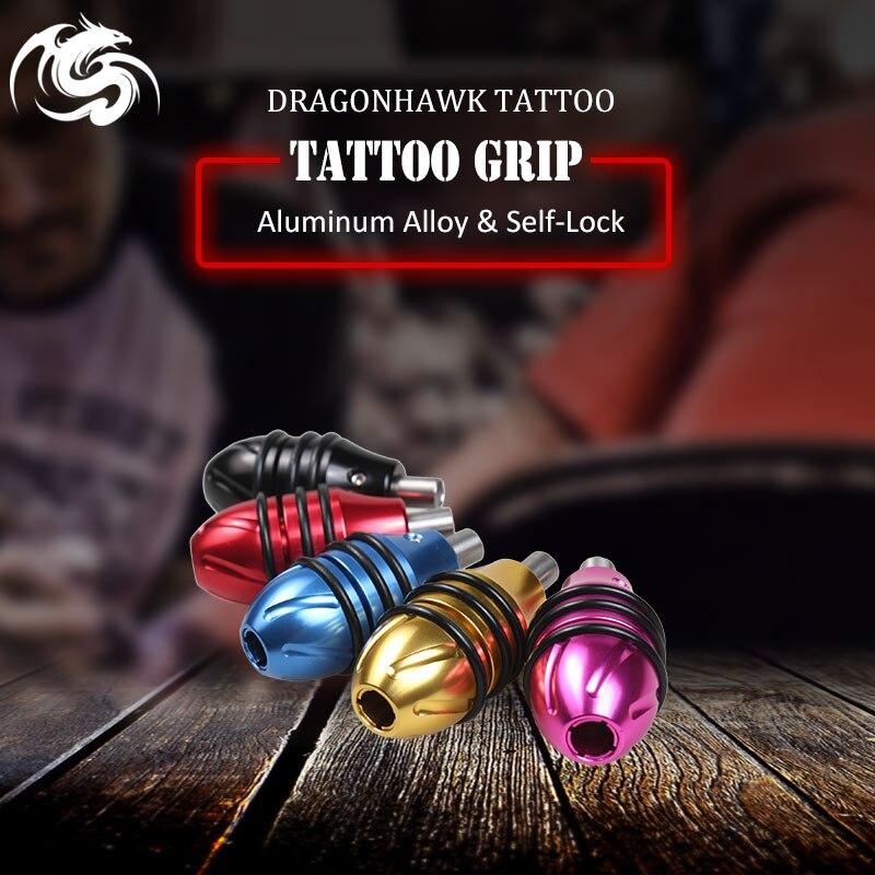 Neue Ankunft 1 stücke selbstsichernde Griffe Olive Tube Tattoo Grips Für Tipps 25 * 49mm Tattoo Zubehör