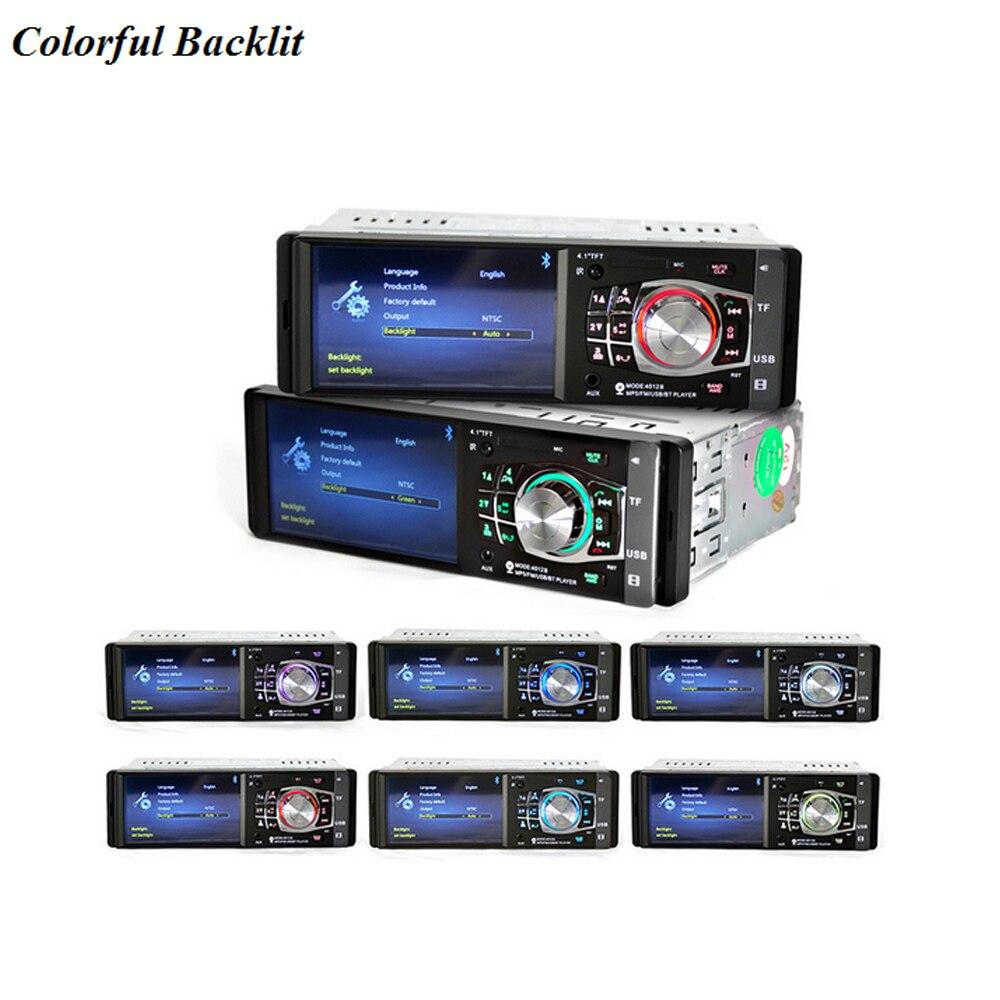 Podofo 4.1 pouces HD 1 Din Auto autoradio lecteur MP3 MP5 Audio stéréo Radio Bluetooth FM télécommande avec caméra de recul - 5