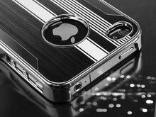 Черный Алюминий Сталь Твердый Переплет Чехол для iPhone5/5S/SE Телефон Случаях ж/Защитная Пленка + Стилус