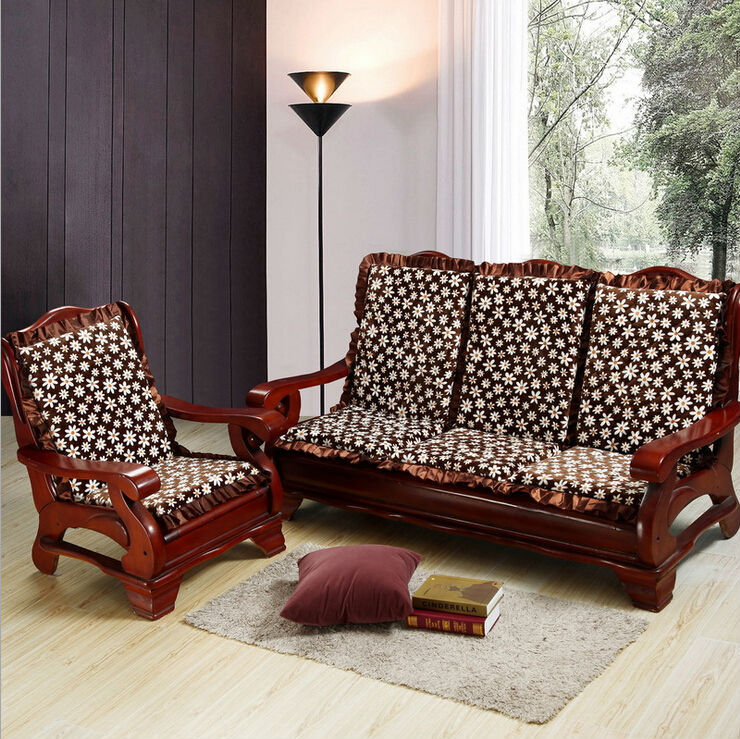 Cushions For Wooden Sofa Wooden Cushion Sofa Set व डन स फ