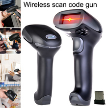 centechia 1 Pcs Wireless Handheld Barcode Scanner Reader Long Range USB Portable