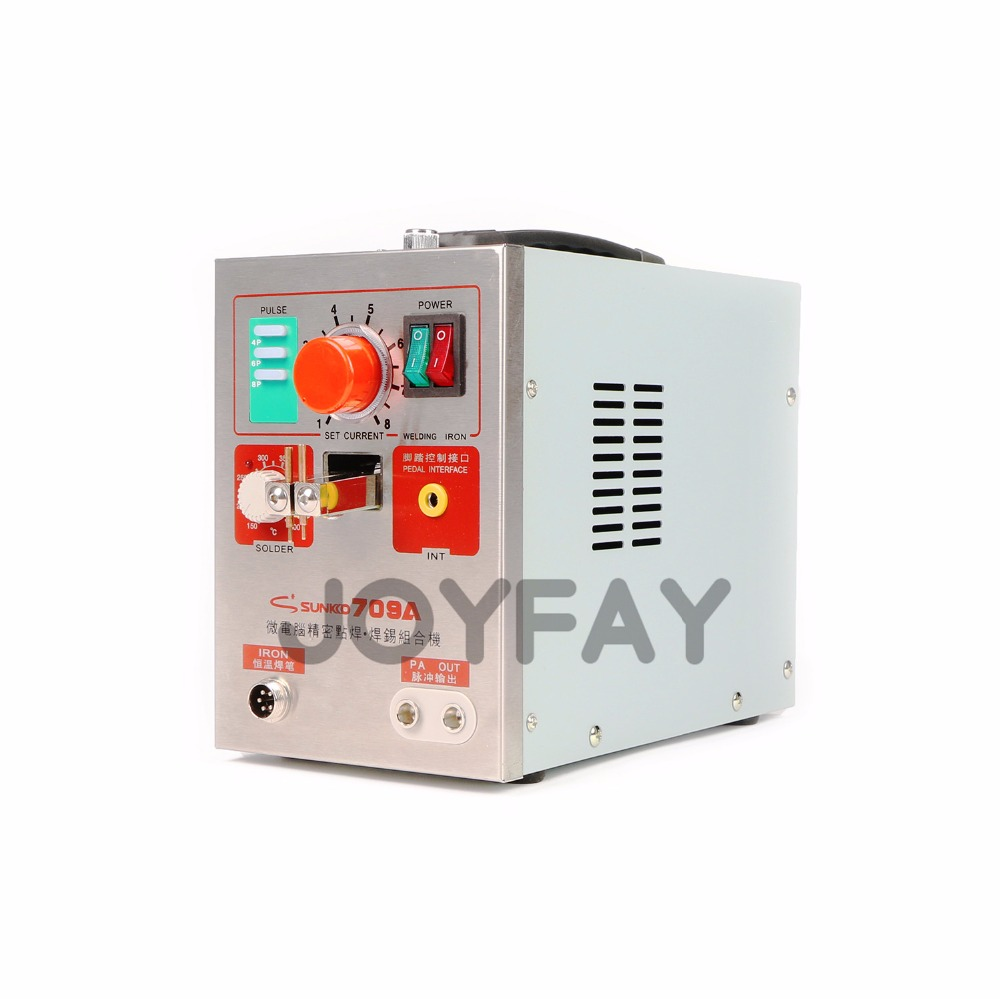 SUNKKO 709A Battery Spot Welder for 18650 Lithium-ion Battery Pulse Welder Welding Soldering Machine 1.9 kw 220V
