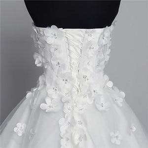 Image 5 - Luksusowy kryształ perły 3D kwiat 2020 koronka w stylu vintage suknia ślubna duży pociąg Plus rozmiar suknia szata de Mariee Vestido De Noiva