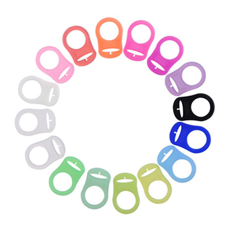 Multi Colors Silicone Baby Dummy Pacifier Holder Clip Adapter For MAM Rings Chupeta Pacifier Clips