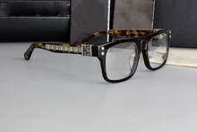 dff36619d37 Fashion Square Brand Eyeglasses Retro Men Women Designer Chrome Eyeglasses  Frame Optical Eye Glasses Frame Oculos