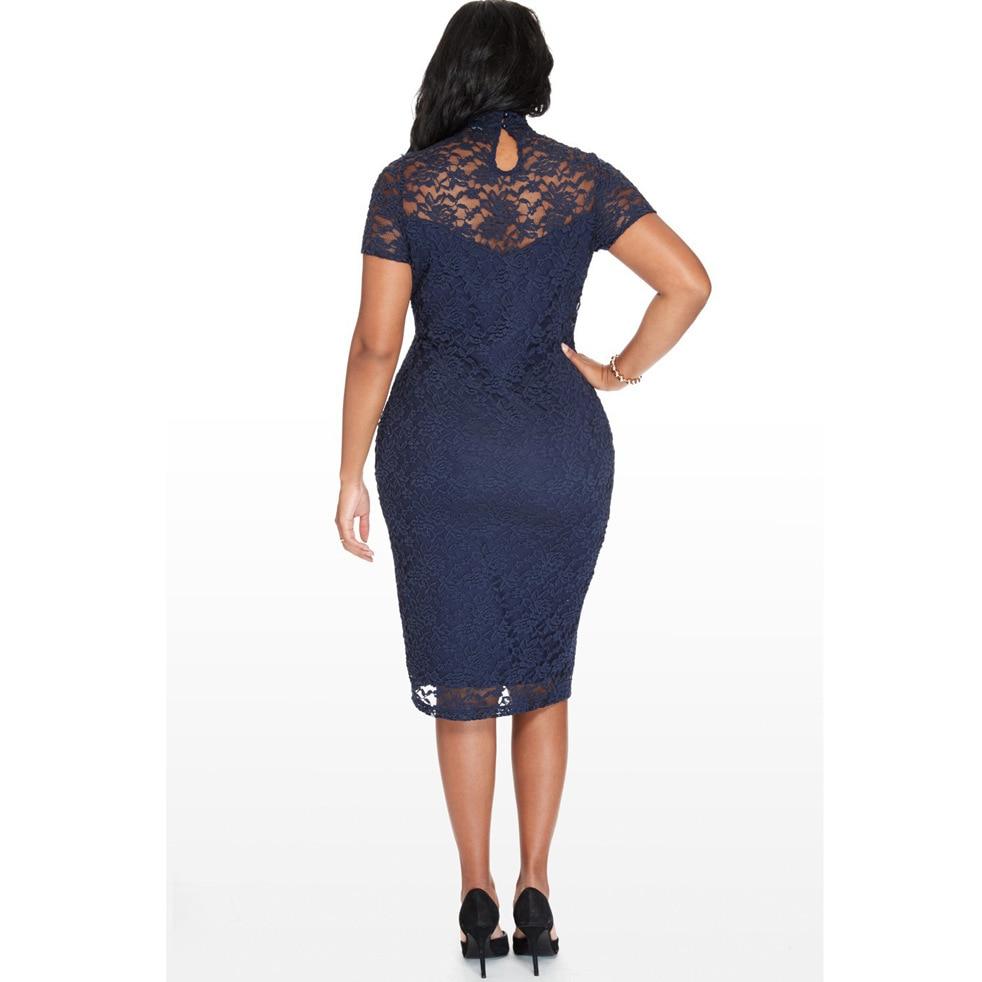 e3e47a94aca8a Lady Sexy Business Dress Bodycon Autumn fall Women Work Dress Mid calf  Length Dresses O Neck Office Dress Plus size 3XL 4XL 5XL-in Dresses from  Women s ...