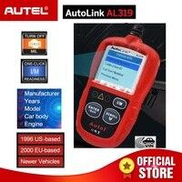 Autel AL319 OBD2 CAN Code Reader Auto Car Diagnostic Tool View Freeze Frame Data OBDII OBD 2 Scaner Automotive PK elm327 ML319