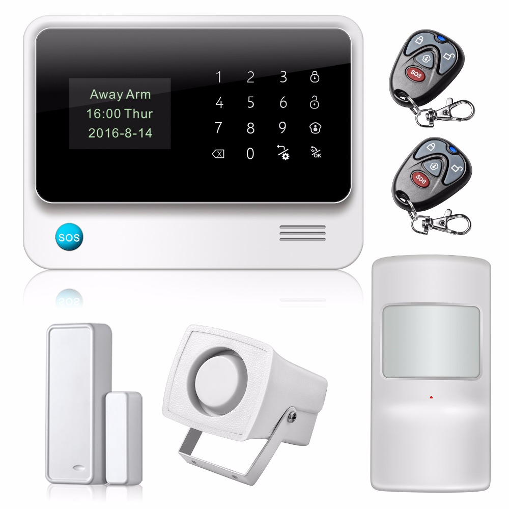 Yobangsecurity Touch Screen Wifi Gsm Alarm System G90b Android Ios House Security Wi Fi Gprs Sms Call Personalise