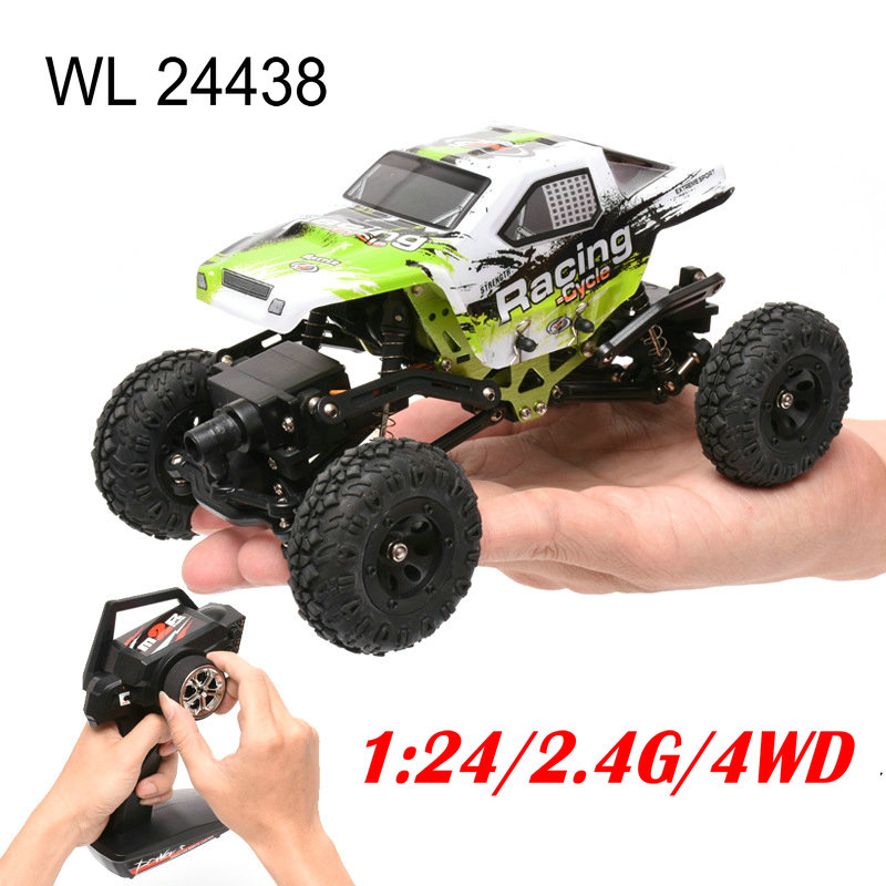 New Arrival Wltoys 1/24 RC Racing Car Scale 4WD Off-road Remote Control Rock Climbing Car Toys mini rc car 1 28 2 4g off road remote control frequencies toy for wltoys k989 racing cars kid children gifts fj88