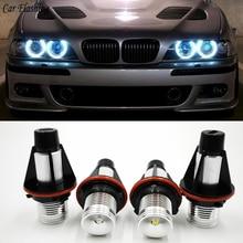Автомобильная проблесковая 2 предмета в комплекте, для BMW E39 E53 E60 E61 E63 E64 E65 E66 E87 525i 530i xi 545i M5 ошибок светодиодный Ангельские глазки габаритные огни лампы