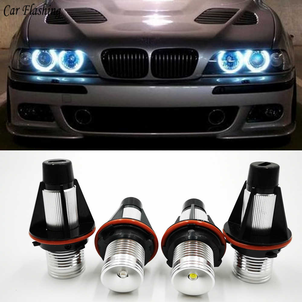 Car flashing 2Pcs For BMW E39 E53 E60 E61 E63 E64 E65 E66 E87 525i 530i xi 545i M5 Error Free LED Angel Eyes Marker Lights Bulbs