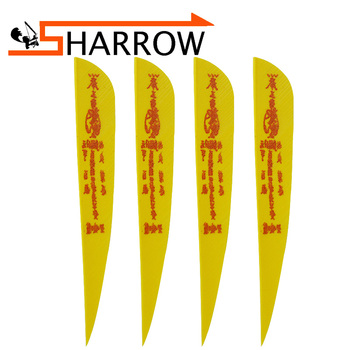 цены 50pcs 4/5 Inch Archery Turkey Feather 2 Colors Arrow Drop Feather Right Wing Hunting Shooting Arrow Accessories