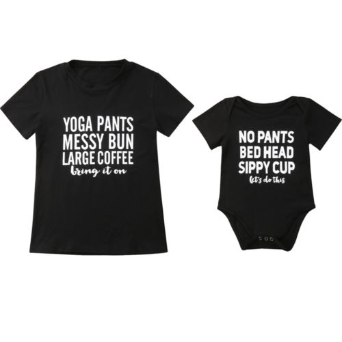 fe6e4c052833 Family Matching Women Mom Mother Son Daughter Baby Romper Tops ...