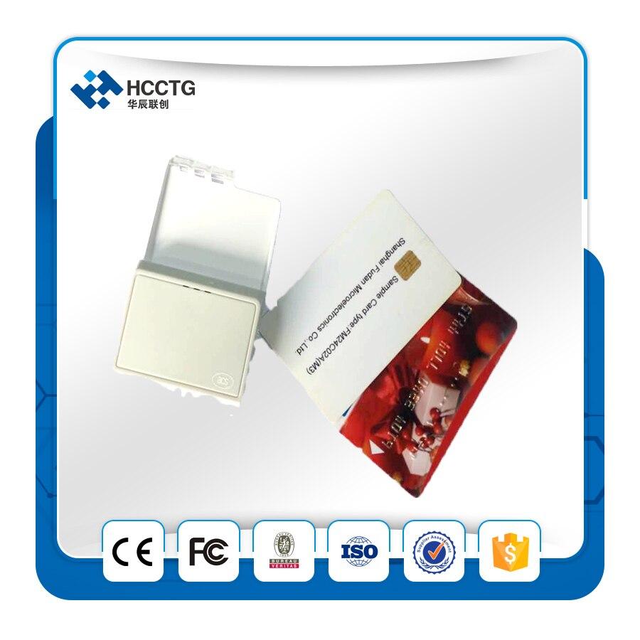 Bluetooth Lecteur de Carte à Puce ACR3901 Contact Lecteur De Carte IC Puce Lecteur + 2 pièces Gratuit Cartes à Puce