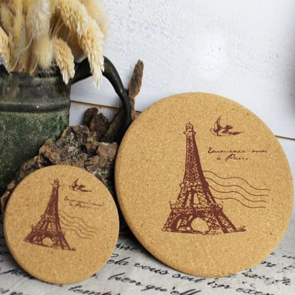 online get cheap coffee cup coaster aliexpresscom  alibaba group - pcs cork wood drink coaster tea coffee cup mat japan style flexible tableheat resistant round