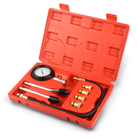Pressure Gauge Tester Kit Motor Auto Petrol Gas Engine Cylinder Compression Gauge Tester Tool Car Leakage