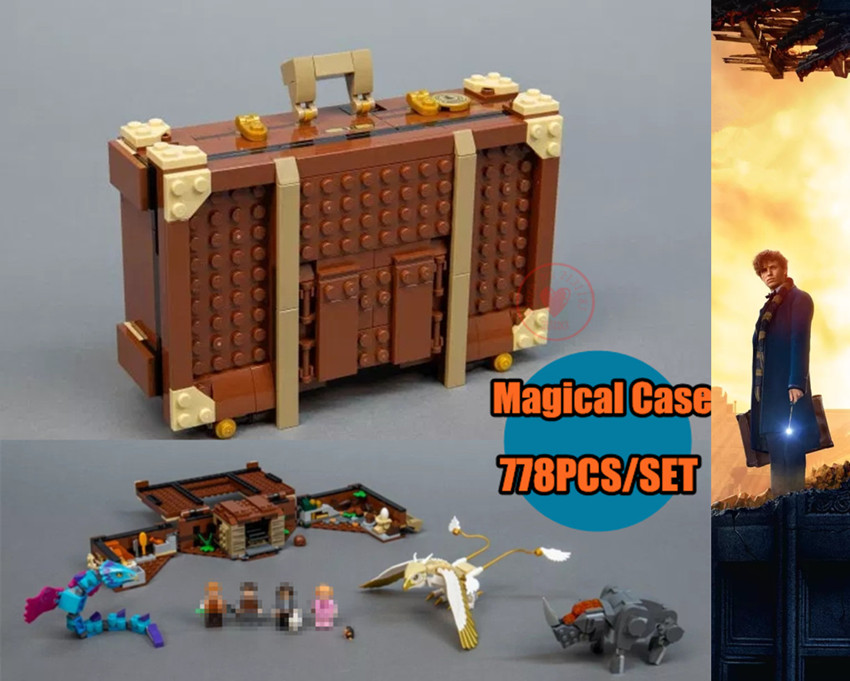 New Newt s Case of Magical Creatrues fit legoings Harry Potter Fantastic Beasts 75952 Building Blocks