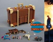 Новый Ньют случае магические креатрусы fit legoings Гарри Поттер Фантастические звери 75952 строительные блоки кирпичи дети самодельные игрушки подарки