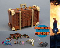 New Newt`s Case of Magical Creatrues fit legoings Harry Potter Fantastic Beasts 75952 Building Blocks bricks Kids diy Toys Gifts