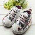 Lindo Bebé Infantil del Niño Del Oro Del Leopardo Los Zapatos del Pesebre Primeros Caminante Sneaker