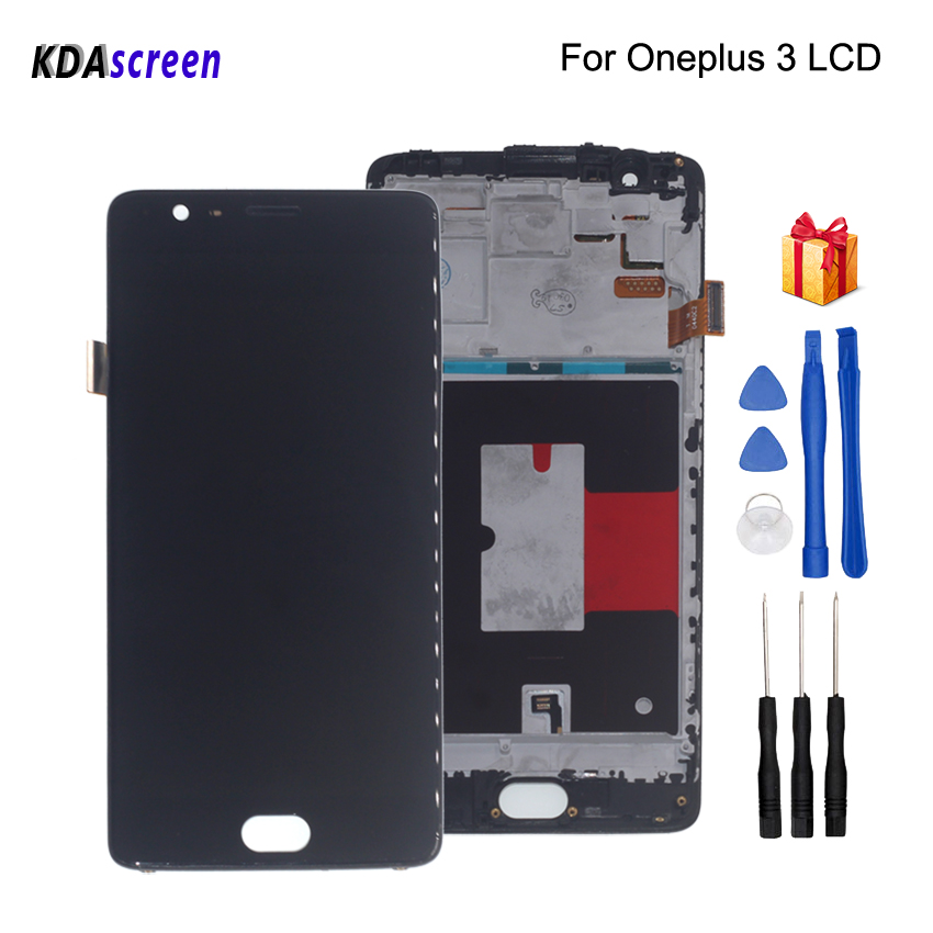 For Oneplus 3 Three A3000 A3003 LCD Display Touch Screen With Frame Digitizer For Oneplus 3T A3010 Screen LCD DisplayFor Oneplus 3 Three A3000 A3003 LCD Display Touch Screen With Frame Digitizer For Oneplus 3T A3010 Screen LCD Display
