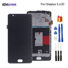 For Oneplus 3 Three A3000 A3003 LCD Display Touch Screen With Frame Digitizer For Oneplus 3T A3010 Screen LCD Display for oppo oneplus 3 a3000 rai lcd display with touch screen digitizer assembly by free dhl 100% warranty 10pc lot