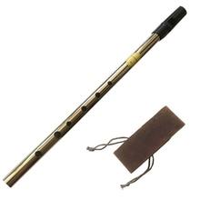 High Quality Tin Irish Whistle Flute Feadog D Key  Penny Whistle 6 Holes Feadan Clarinet  Flauta Musical Instrument with Bag