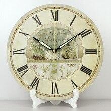 Venta al por mayor, relojes de mesa decorativos vintage de 12 pulgadas, reloj resistente al agua más silencioso, reloj de mesa a la moda para decoración del hogar, regalo de boda