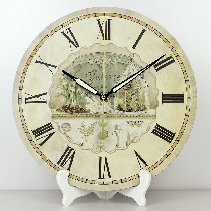 Wholesale 12u0027u0027 Vintage Decorative Table Clocks More Quiet Waterproof Clock  Face Fashion Home Decor