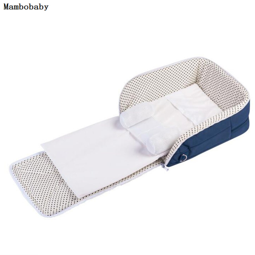 Mambobaby 2 in 1 Newborn Baby Portable Crib Nappy Mummy Bag Stroller Bags Multifunctional Foldable Cribs traveloutdoor essential