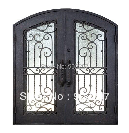 custom design boutique de hierro forjado puerta de entrada cubierta