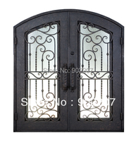 Custom design Boutique wrought iron entry door id21
