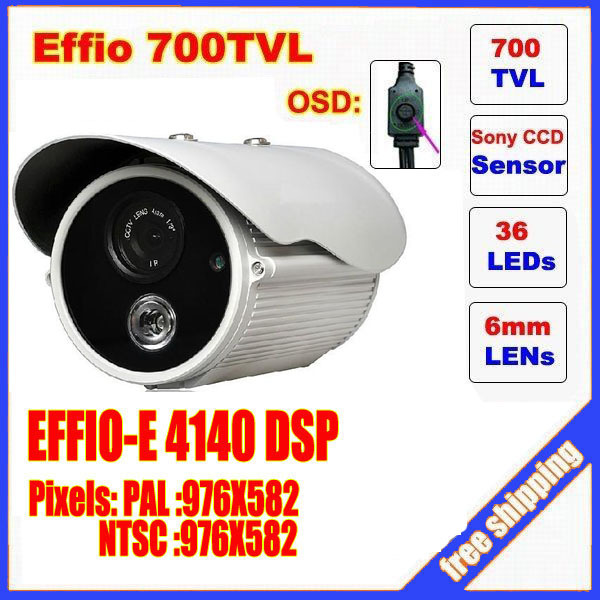 CCTV Camera 1/3 Sony Effio CCD 700TVL OSD menu single lamp array LED outdoor bullet camera IR 50m Waterproof C20H 1 3 sony ccd effio e 700tvl 673 4140 osd menu array leds ir 30m outdoor waterproof cctv camera with bracket cy 90v c2010d