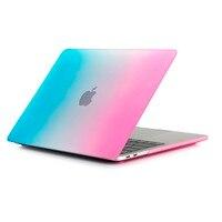 GOOYIYO Laptop Rainbow Case Hard PC Shell Screen Protector Retina Pro 13 15 Touch Bar Computer
