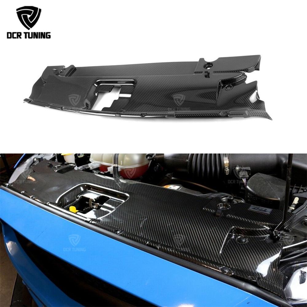 Для Ford Mustang углеродное волокно переднее охлаждение Pancl 2015-UP для Mustang радиатор Охлаждающая пластина