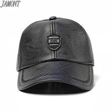 Marca invierno orejeras gorra de béisbol al aire libre viento cálido y  mediana edad sombrero masculino cap PU Snapback sombrero . 9bb09381a40