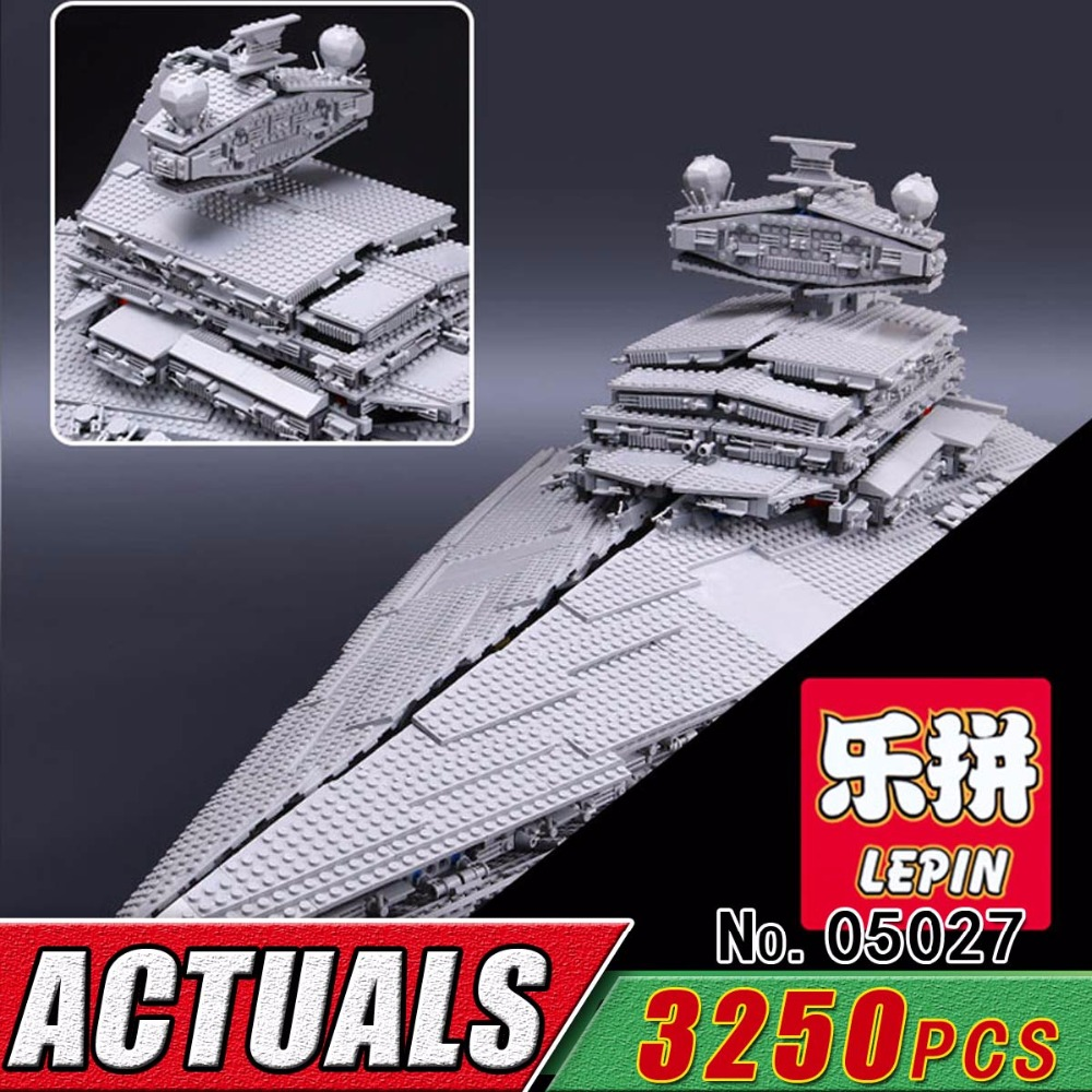 DHL LEPIN 05027 Star Series War Ship Building Blocks Set Destroyer Cruiser Compatible 10030 Brick Kit Toy For Boy Child 3250Pcs lepin 22001 pirate ship imperial warships model building kits blocks 1717pcs brick toy compatible with lepin 10210