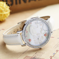 MISS KEKE Children Cartoon Watches Diamond Quartz Watch Kids Girl 3D Clay Swan Designer Watch Leather Waterproof Wristwatch 1041