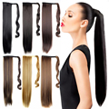 60CM Ponytail Hairpieces False Hair Extensions Straight My Little Pony Tail Fake Hair Drawstring Heat Resistant Synthetic Hair
